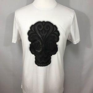 Epin Chief Skull T- Shirt Leather Handmade Size L